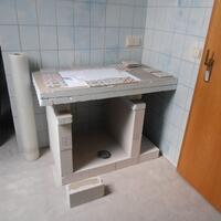 hier wurde das neue Handwaschbecken besprochen und nach den Wünschen der  Kunden hergestellt